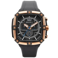 Brera OrologiSupersportivo Square WatchRose Gold & Black