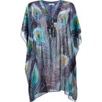 Brigittev-neck pinted beach dress, Womens, Size: Medium, Green, Polyester