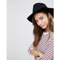 BrixtonFedora in Black with Leather Band - Black