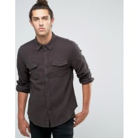 BrixtonFlannel Shirt in Regular Fit - Black