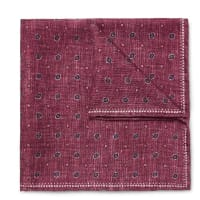 Brunello CucinelliDouble-faced Printed Silk Pocket Square - Burgundy