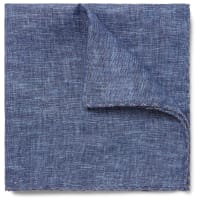 Brunello CucinelliLinen Pocket Square - Blue