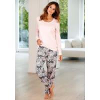 BuffaloPyjama mit gemusterter Hose & passendem Langarmshirt, rosa, rosa gemustert