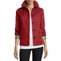 BurberryAshurst Classic Modern Quilted Jacket, Parade Red