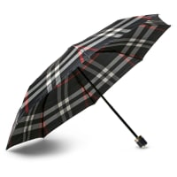 BurberryChecked Travel Umbrella - Navy