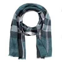 BurberrySchal - M Giant Exploded Linen Check Scarf Pewter Blue - in blau - Schal für Damen