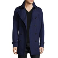 BurberrySlim-Fit Double-Breasted Trench Coat, Blueberry