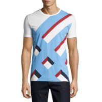 BurberryWilmore Abstract Check Jersey T-Shirt, White