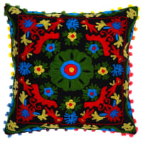 Butterfly Dreams Luxury Bed LinensBohemian Rhapsody Decorative Pillow CoverRed