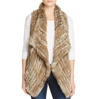 C By BloomingdalesC by Bloomingdales Fur-Front Cashmere Vest