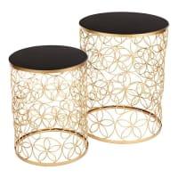 CAFE Lighting & LivingAlley Side Table, Black (Set of 2)