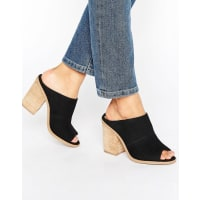 Call It SpringCall It Spring Galerassi Black Stack Heeled Mules