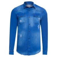 Calvin KleinCamisa Masculina Jeans Coordenado Carbon Denim - Azul
