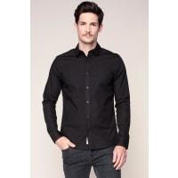 Calvin KleinCamicie maniche lunghe - j3ej303556 wilbert shirt ls - Nero