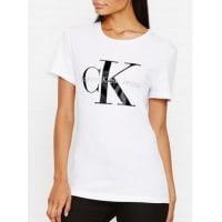 Calvin KleinCk Jeans Logo T-Shirt - White, Size Xl