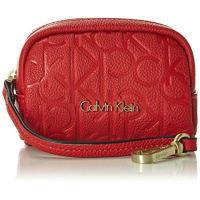 Calvin Klein JeansDamen MISH4 Coin Pouch Schlüsselmäppchen, Rot (Lipstick Red 635 635), 5x4x2 cm