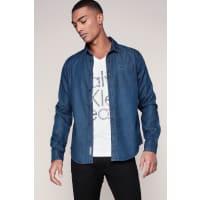 Calvin KleinCamicie maniche lunghe - j30j300648 wavy 2 bd indigo shirt ls - Blu / Marina