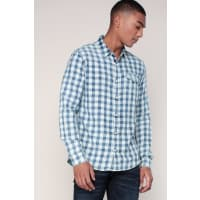 Calvin KleinCamicie maniche lunghe - j30j301074 welton bleached check shirt ls - Blu / Marina