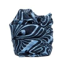 Cameruccisciarpa giglio stampa fiori blu