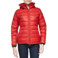 Canada GooseCamp Hooded Packable Puffer Jacket, Red