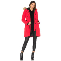 Canada GooseKensington Parka with Coyote Fur Trim in Red