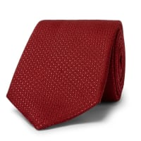 Canali8cm Silk-jacquard Tie - Red