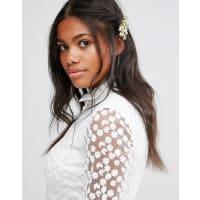 Cara NYCara NY - Haarspange mit Blumendesign - Gold