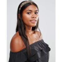 Cara NYCara NY - Statement-Haarband mit Schmucksteinen - Gold