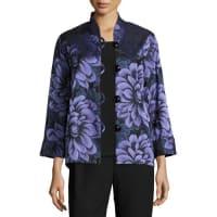 Caroline RoseFlower Show Boxy Jacket, Blue/Purple, Petite