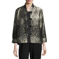 Caroline RoseGlazed Paisley Jacket, Petite