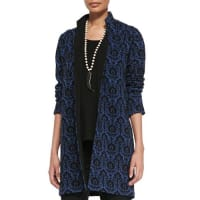 Caroline RoseRenaissance Wool Knit Jacquard Jacket