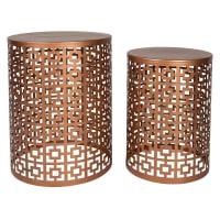 Casa UnoNyla Side Table, Copper (Set of 2)