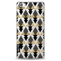 CasetasticSoftcover Huawei P8 Lite - Gold Black Triangles