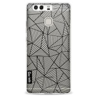 CasetasticSoftcover Huawei P9 - Abstraction Lines Transparent