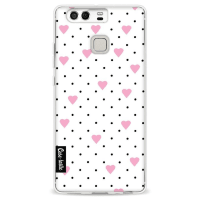CasetasticSoftcover Huawei P9 - Pin Point Hearts Pink