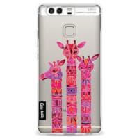 CasetasticSoftcover Huawei P9 - Pink Giraffes
