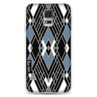CasetasticSoftcover Samsung Galaxy S5 - Art Deco Blue