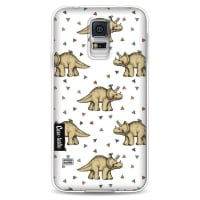 CasetasticSoftcover Samsung Galaxy S5 - Triceratops and Triangles
