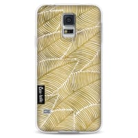 CasetasticSoftcover Samsung Galaxy S5 - Tropical Leaves Gold