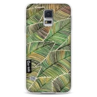 CasetasticSoftcover Samsung Galaxy S5 - Tropical Leaves Yellow
