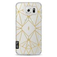 CasetasticSoftcover Samsung Galaxy S6 - Abstraction Half Gold Transparent