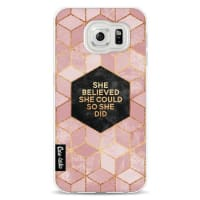 CasetasticSoftcover Samsung Galaxy S6 - She Believed She Could So She Did