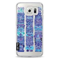 CasetasticSoftcover Samsung Galaxy S6 - TikiTotems Blue