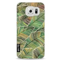 CasetasticSoftcover Samsung Galaxy S6 - Tropical Leaves Yellow