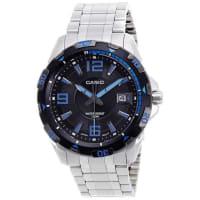 CasioAnalog Black Dial MTD1065D-1AV Mens Watch