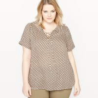 CastalunaLosse blouse met korte mouwen