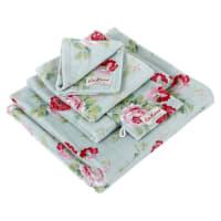 Cath KidstonAntique Rose Bouquet Towel - Blue - Wash Mitt