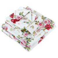 Cath KidstonAntique Rose Bouquet Towel - White - Wash Mitt