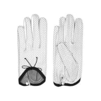CausseGirly Perforated Metallic Leather Gloves - Silver