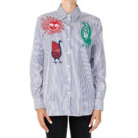 CelineEmbroidered Striped Blouse Herbst/Winter